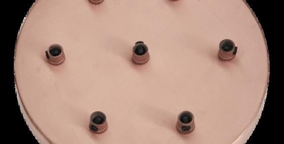 Industville Sleek Ceiling Rose - 7 Outlet - Copper