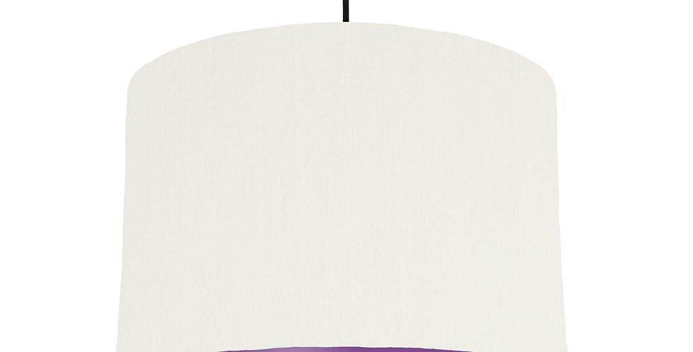 White & Purple Lampshade - 30cm Wide