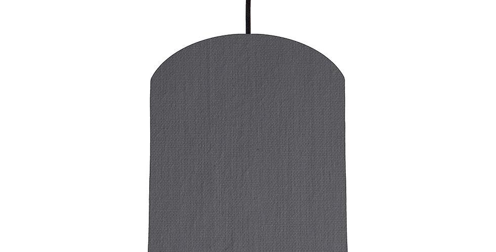 Dark Grey & Brushed Copper Lampshade - 20cm Wide