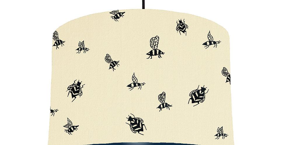 Bumble Bee Lampshade - Natural & Navy