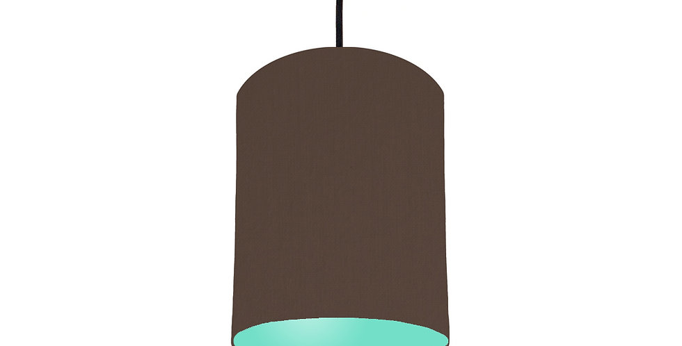 Brown & Mint Lampshade - 15cm Wide