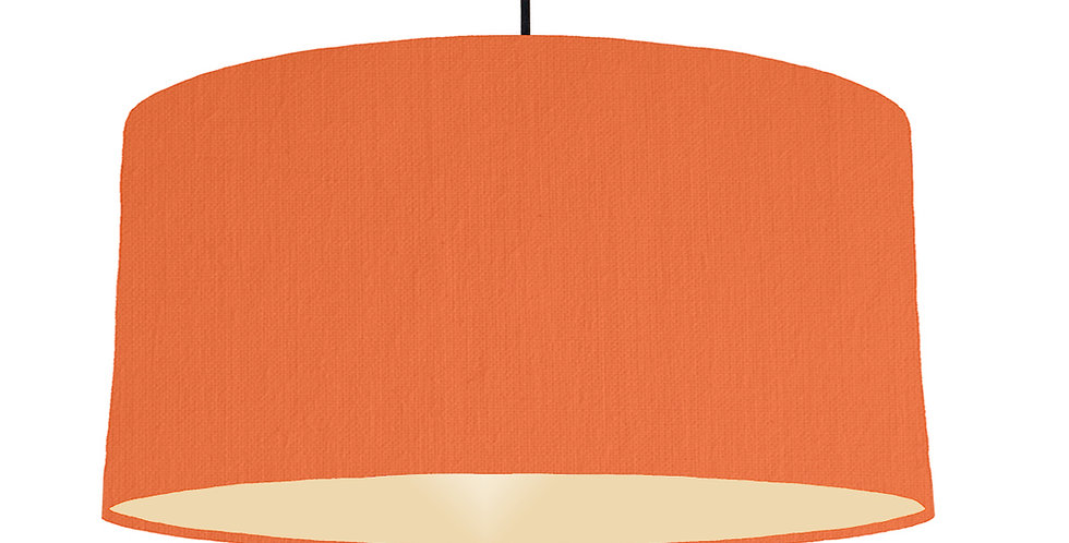 Orange & Ivory Lampshade - 60cm Wide