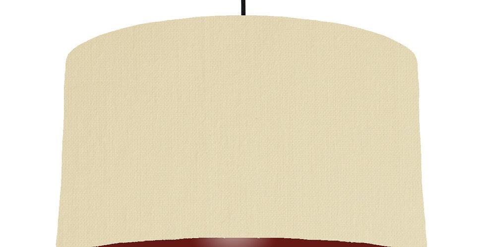 Natural & Burgundy Lampshade - 50cm Wide