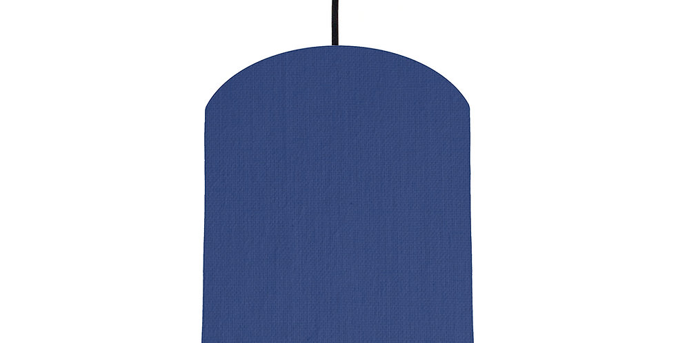 Royal Blue & Ivory Lampshade - 20cm Wide