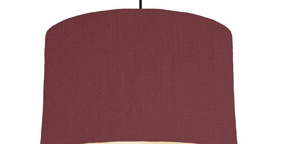 Wine Red & Ivory Lampshade - 40cm Wide