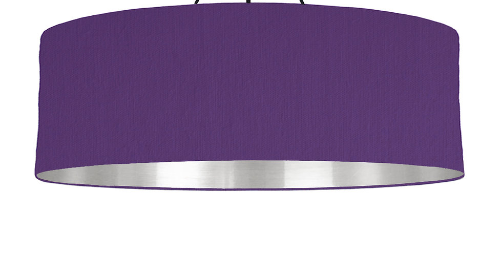 Violet & Silver Mirrored Lampshade - 100cm Wide