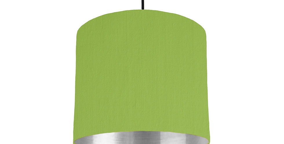 Pistachio & Silver Mirrored Lampshade - 25cm Wide