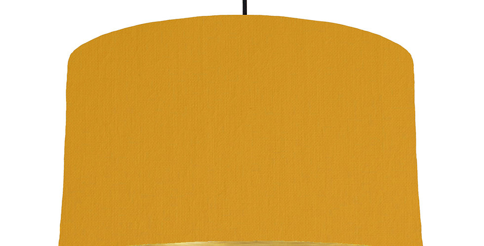 Mustard & Brushed Gold Lampshade - 50cm Wide
