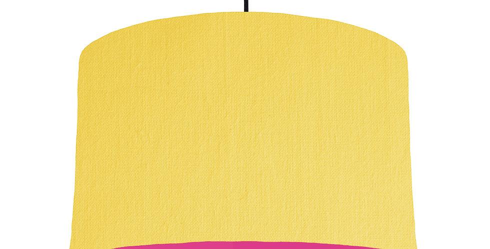 Lemon & Magenta Lampshade - 40cm Wide