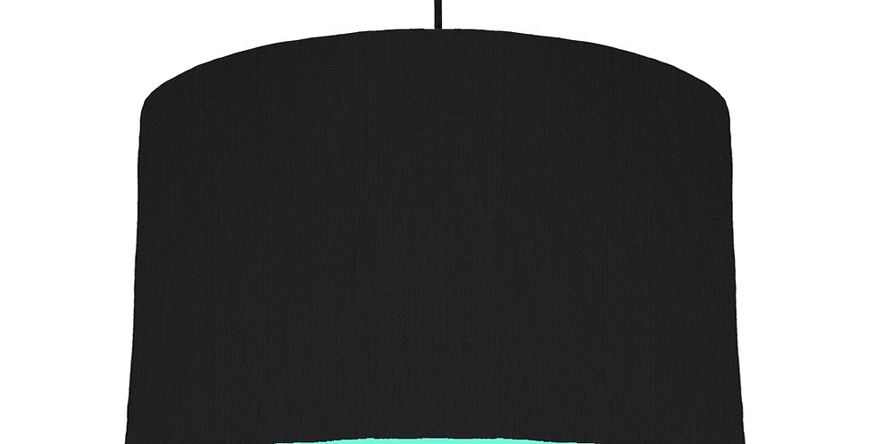 Black & Mint Lampshade - 40cm Wide