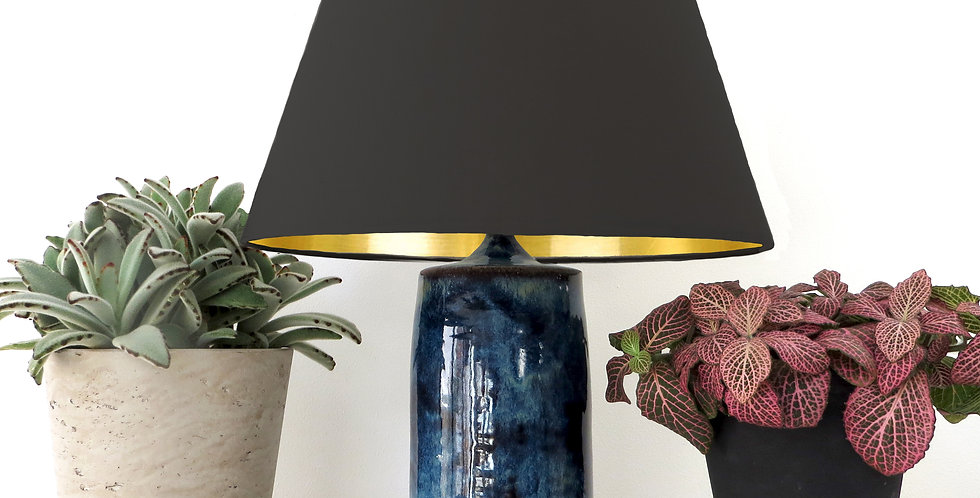 Conical Lampshade (20Tx30Bx20H) - Gold Mirror Lining