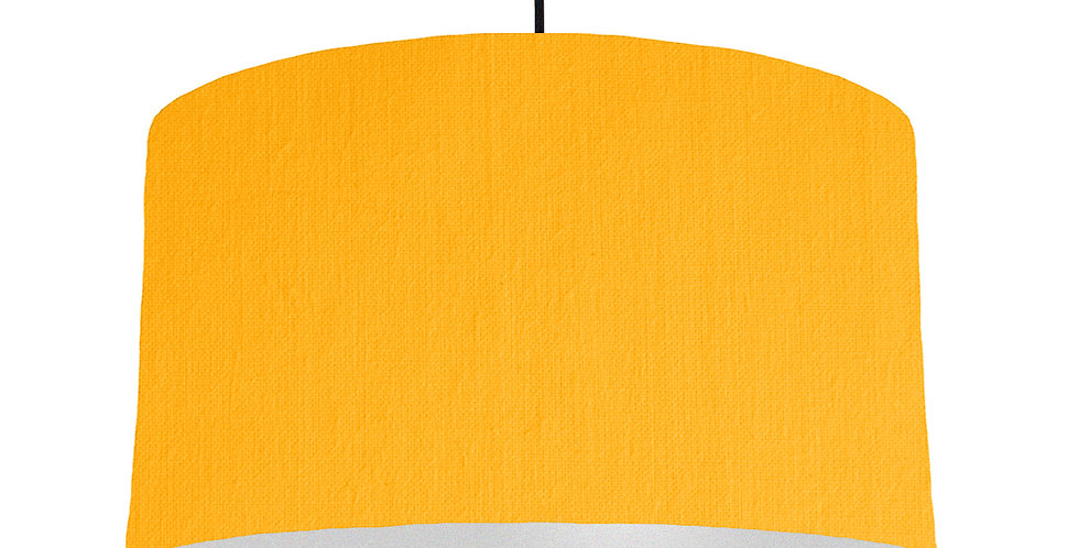 Sunshine & Silver Matt Lampshade - 50cm Wide