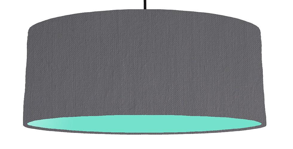 Dark Grey & Mint Lampshade - 70cm Wide
