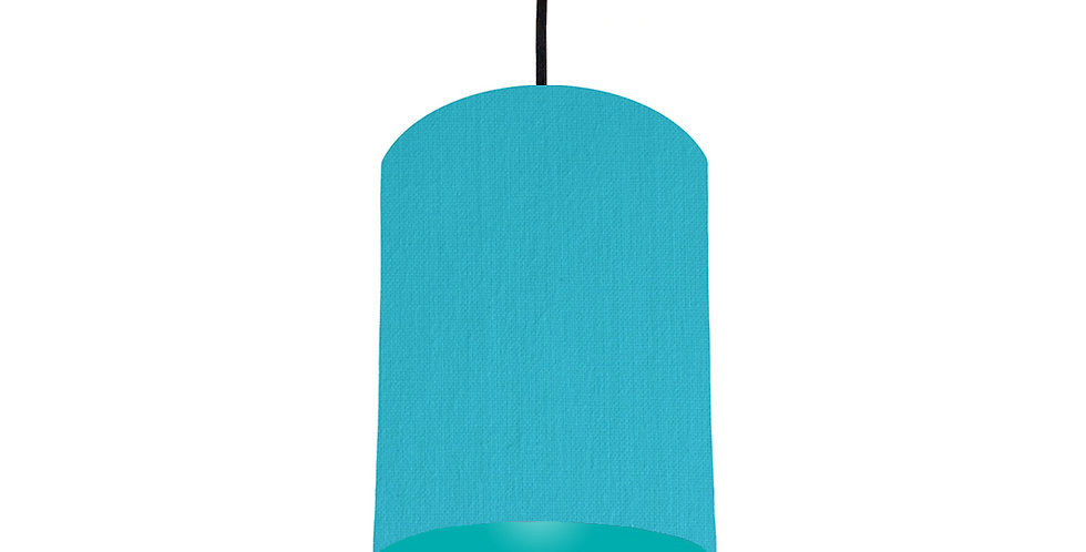 Turquoise & Turquoise Lampshade - 15cm Wide