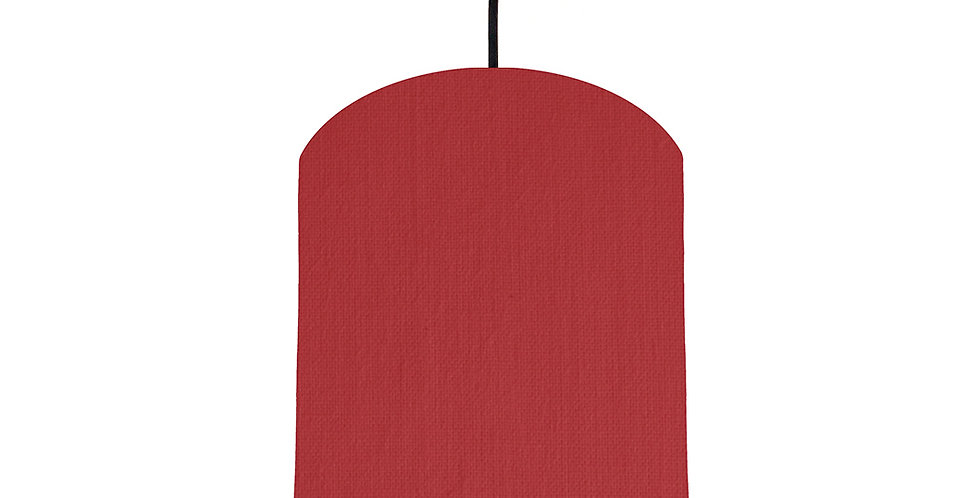 Red & Light Blue Lampshade - 20cm Wide
