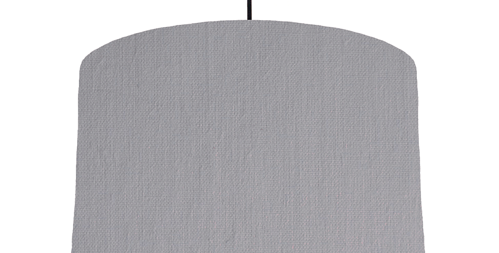 Light Grey & White Lampshade - 40cm Wide