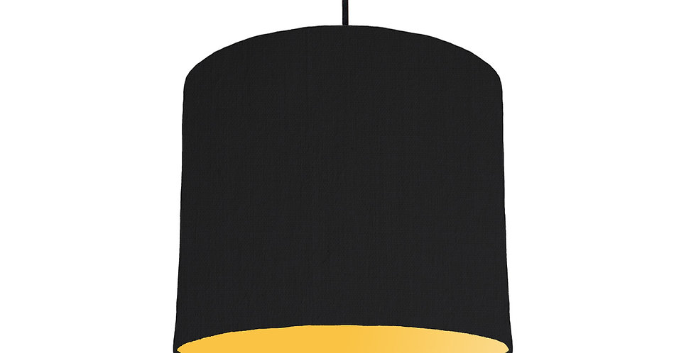 Black & Butter Yellow Lampshade - 25cm Wide