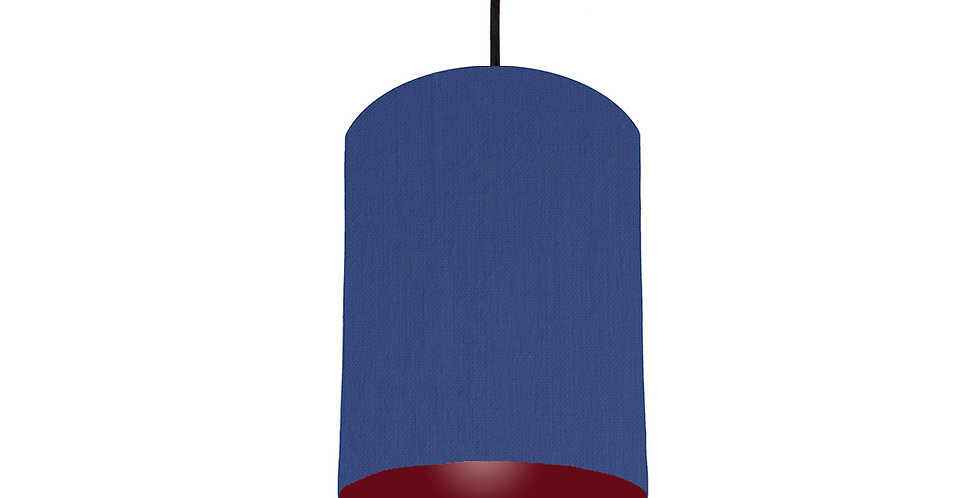 Royal Blue & Burgundy Lampshade - 15cm Wide