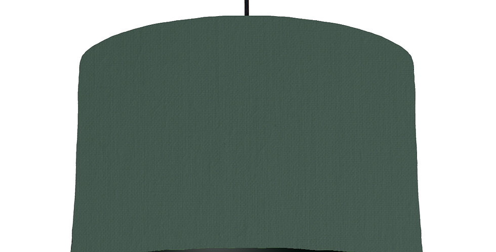 Bottle Green & Black Lampshade - 40cm Wide