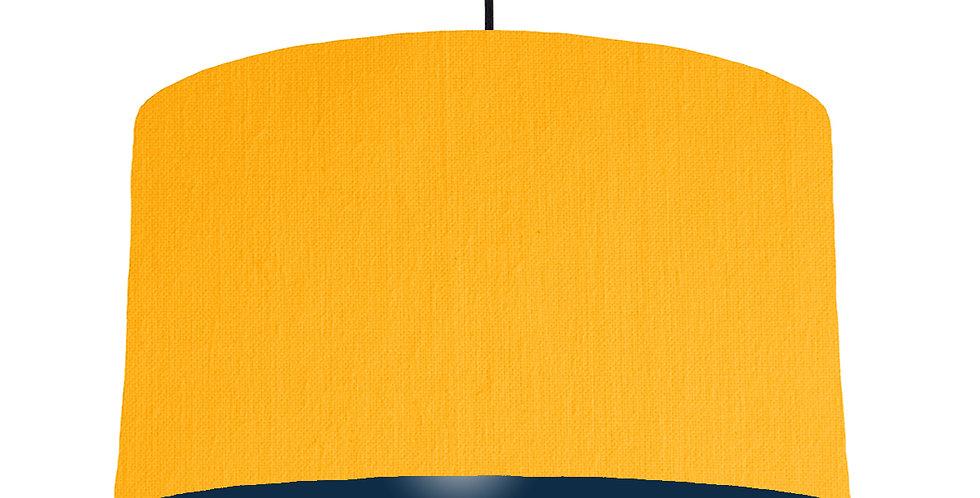Sunshine & Navy Lampshade - 50cm Wide