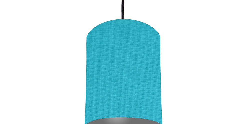 Turquoise & Dark Grey Lampshade - 15cm Wide