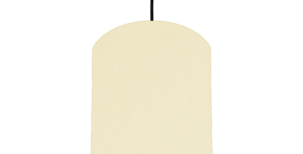 Natural & Brushed Silver Lampshade - 20cm Wide
