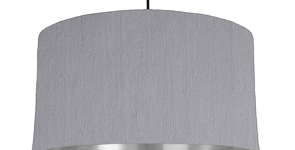 Light Grey & Silver Mirrored Lampshade - 50cm Wide
