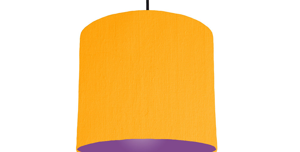 Sunshine & Purple Lampshade - 25cm Wide