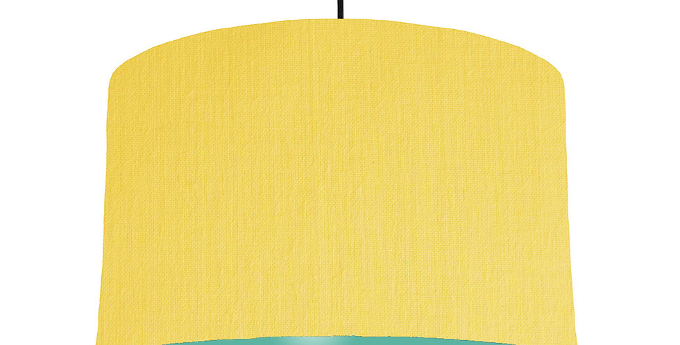 Lemon & Turquoise Lampshade - 40cm Wide