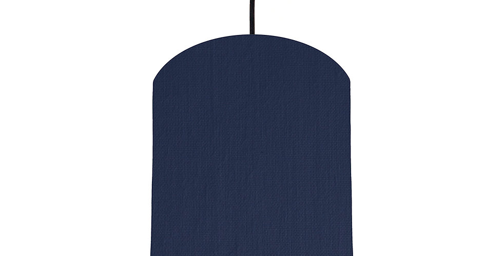 Navy & Brushed Gold Lampshade - 20cm Wide