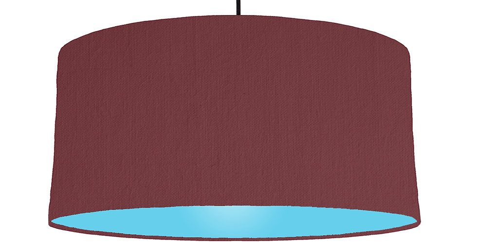 Wine Red & Light Blue Lampshade - 60cm Wide