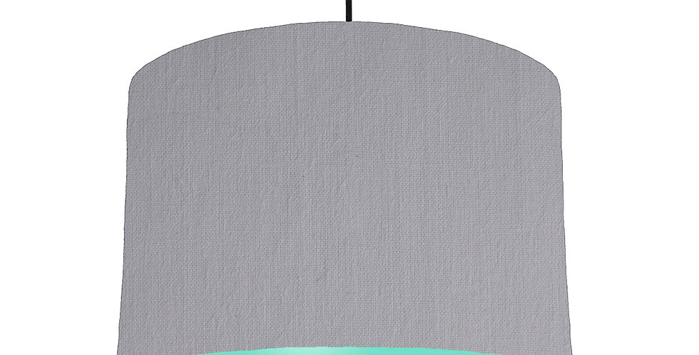 Light Grey & Mint Lampshade - 30cm Wide