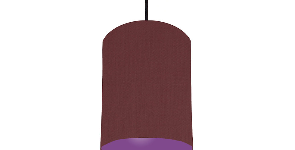 Wine Red & Purple Lampshade - 15cm Wide