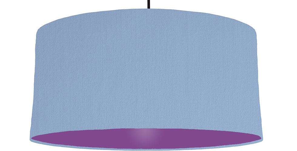 Sky Blue & Purple Lampshade - 60cm Wide