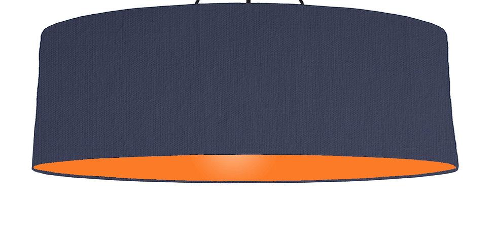 Navy Blue & Orange Lampshade - 100cm Wide