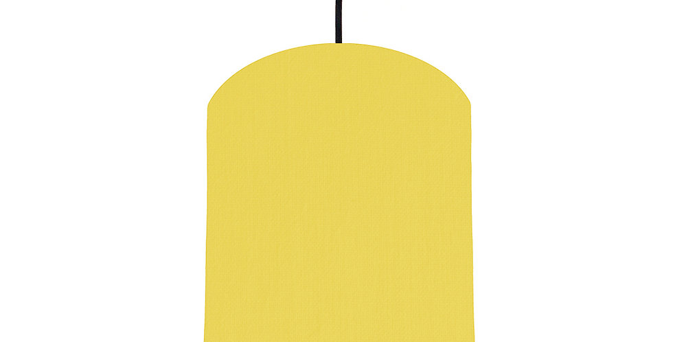 Lemon & Forest Green Lampshade - 20cm Wide
