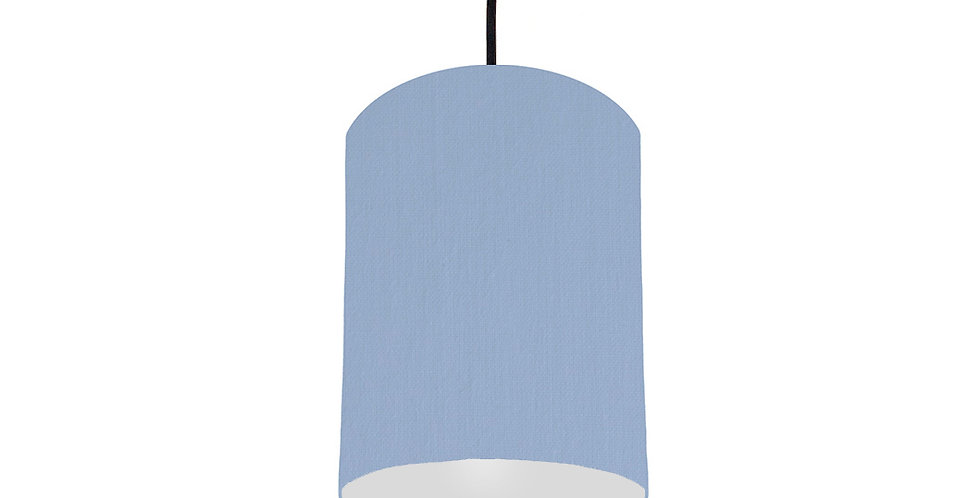 Sky Blue & Light Grey Lampshade - 15cm Wide