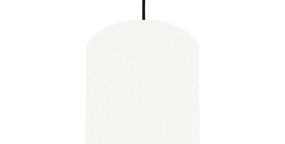 White & Copper Mirrored Lampshade - 20cm Wide