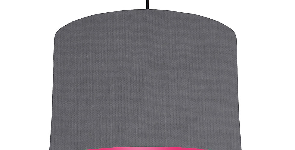 Dark Grey & Magenta Lampshade - 30cm Wide