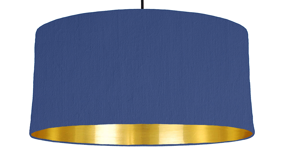 Royal Blue & Gold Mirrored Lampshade - 60cm Wide