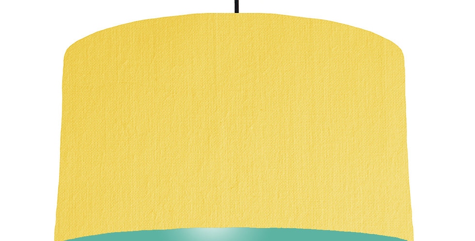 Lemon & Turquoise Lampshade - 50cm Wide