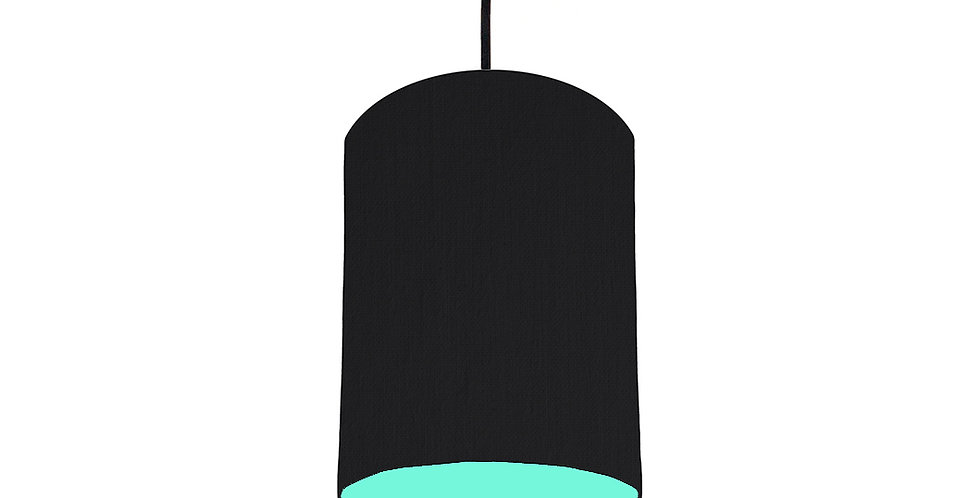 Black & Mint Lampshade - 15cm Wide