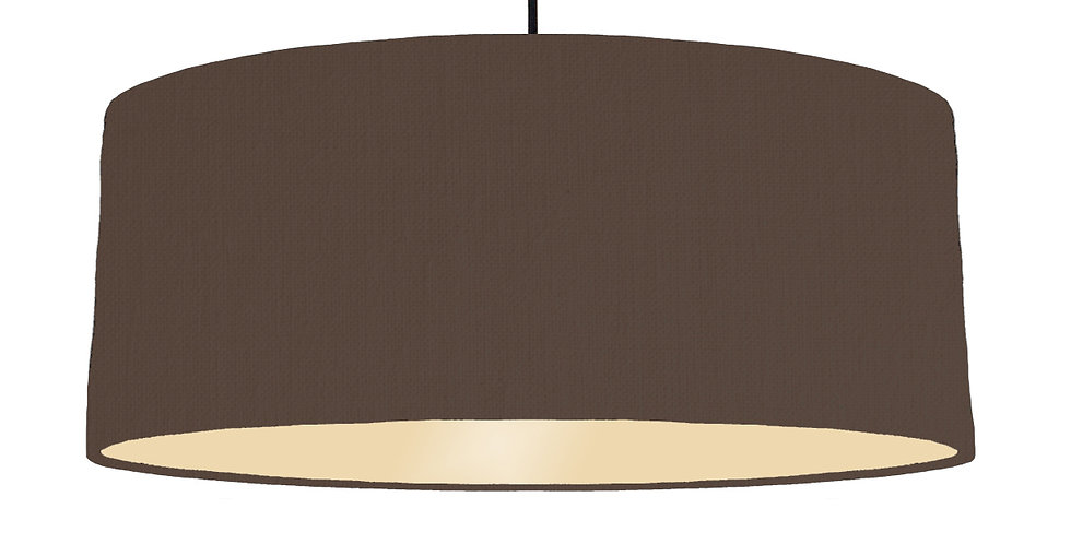 Brown & Ivory Lampshade - 70cm Wide