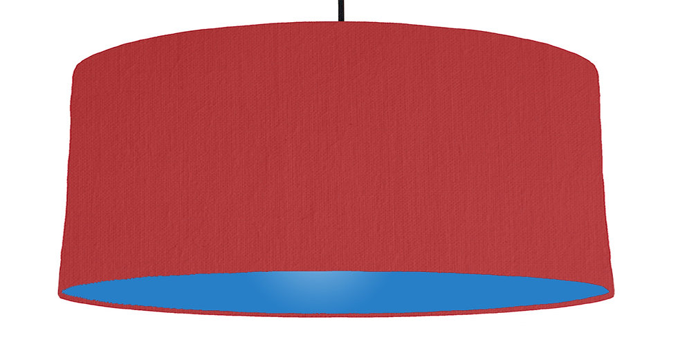 Red & Bright Blue Lampshade - 70cm Wide