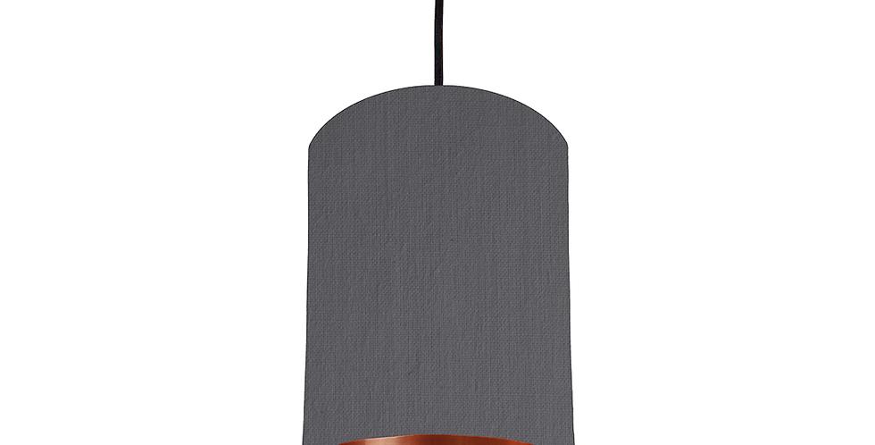 Dark Grey & Copper Mirrored Lampshade - 15cm Wide