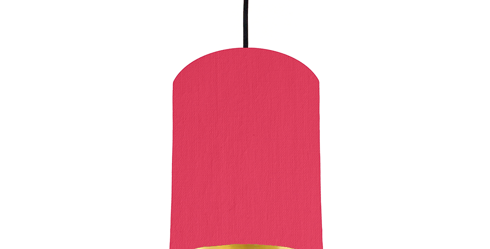 Cerise & Gold Mirrored Lampshade - 15cm Wide