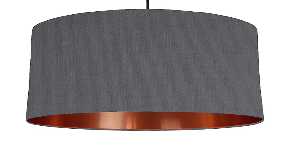 Dark Grey & Copper Mirrored Lampshade - 70cm Wide