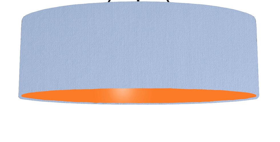 Sky Blue & Orange Lampshade - 100cm Wide