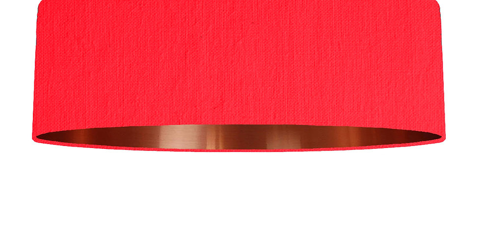 Neon Pink & Copper Mirrored Lampshade - 100cm Wide