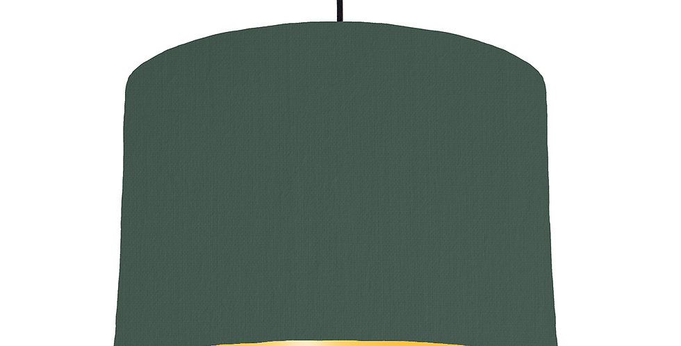 Bottle Green & Butter Yellow Lampshade - 30cm Wide